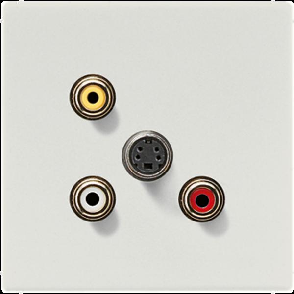 JUNG MALS1051LG Cinch Audio-Composite Video-S-Video Lichtgrau