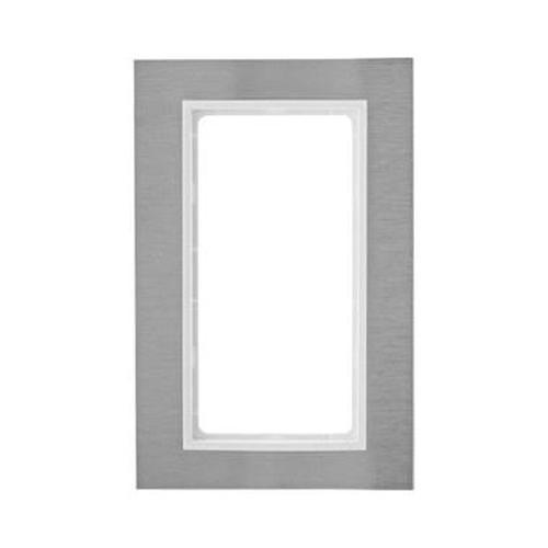 Berker 13093609 Rahmen mit großem Ausschnitt B.7 Edelstahl/Polarweiß