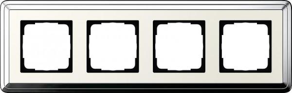 GIRA 0214643 Rahmen 4-FachClassicX Chrom-Cremeweiß