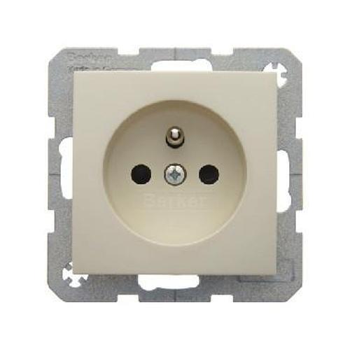 Berker 6768768982 S.1 Steckdose mit Schutzkontaktstift erhöhtem Weiß, Glänzend