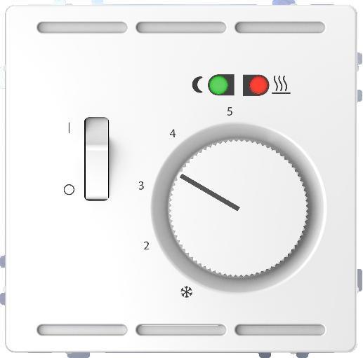 Merten MEG5764-6035 Fußbodentemperaturregler Wechsler 230V Lotosweiß