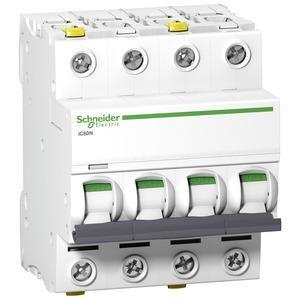 Schneider A9F03410 Leitungsschutzschalter B10A-6kA-iC60N-4Polig