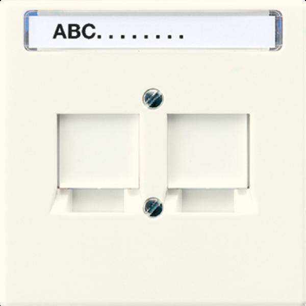 JUNG LS969-2NWE Abdeckung für Modular-Jack-Steckbuchsen 2-Fach Cremeweiß