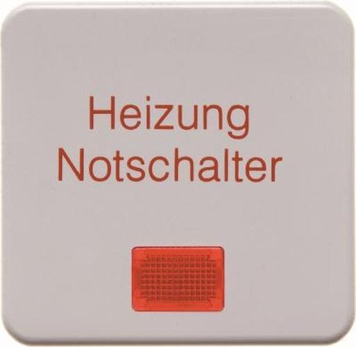 Berker 156809 Wippe 'Heizung' mit roter Linse wg Up IP44 Polarweiß, Glänzend