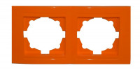 Moderna 2-Fach Abdeckrahmen Orange