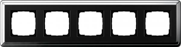 GIRA 0215642 Rahmen 5-Fach ClassicX Chrom-Schwarz