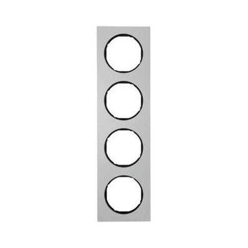 Berker 10142284 Rahmen 4Fach R.3 Alu/Schwarz