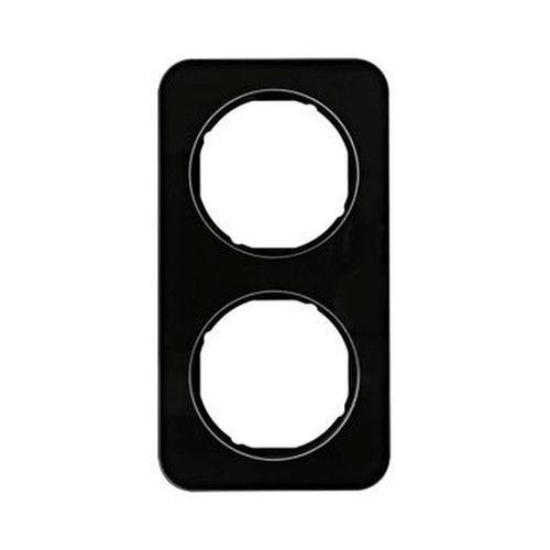 Berker 10122116 Rahmen 2Fach R.1 Glas, Schwarz