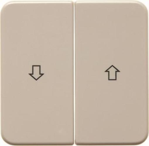 Berker 155222 Wippen mit Aufdruck Symbol Pfeil wg Up IP44 Weiß, Glänzend