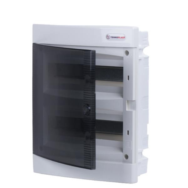 Tehnoplast U24C Unterputzverteiler 2-Reihig 24PLE Tür Transparent