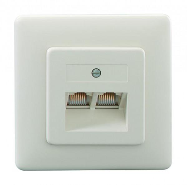 RUTENBECK 13010214 UAE 8/8 (8/8) Up Anschlußdose Creme-Weiß