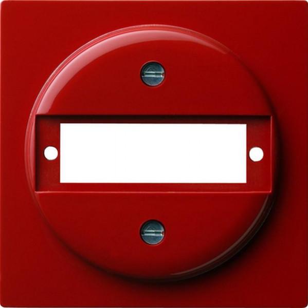 GIRA 027843 Abdeckung zur Aufnahme von Steckverbindern D-Subminiatur Rot