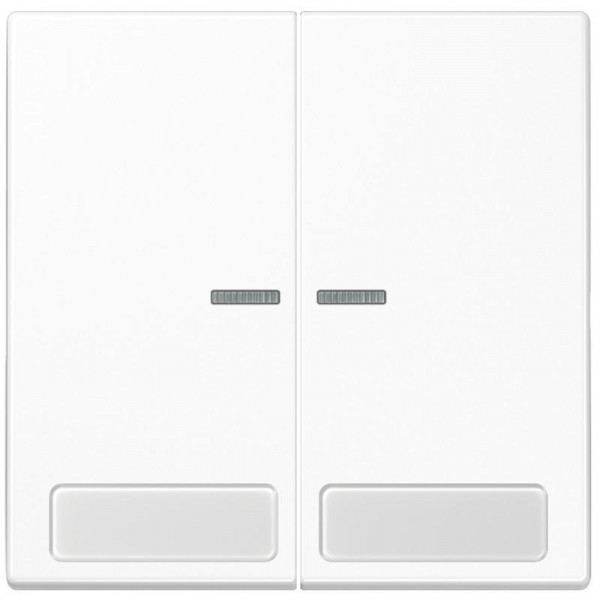 JUNG LS995NAKO5WW Serien-Kontroll-Wippe mit Schriftfeld Alpinweiß