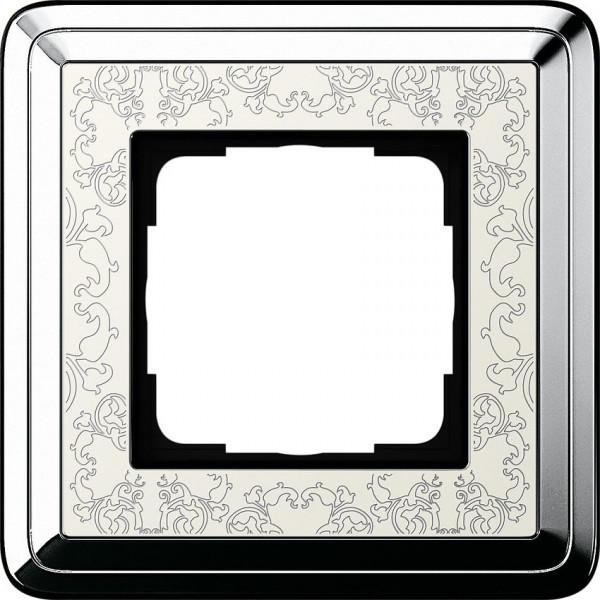 GIRA 0211683 Rahmen 1-Fach ClassicX Art Chrom-Cremeweiß