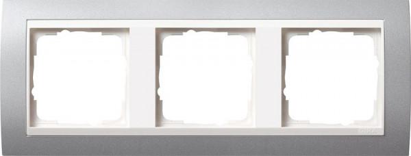 GIRA 0213326 Rahmen 3-Fach Event Farbe-Alu /Reinweiß-Glänzend