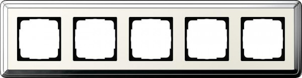 GIRA 0215643 Rahmen 5-Fach ClassicX Chrom-Cremeweiß