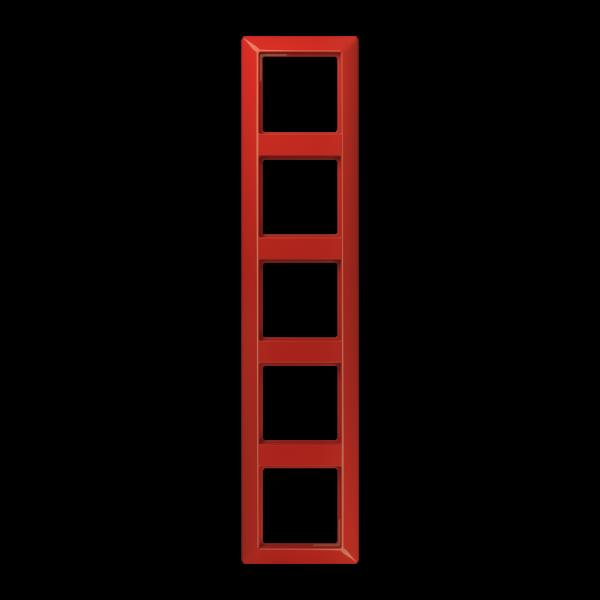 JUNG AS585BFRT Rahmen 5-Fach Rot