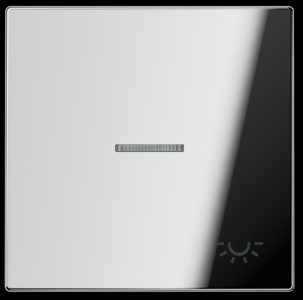 "JUNG GCR2990KO5L Kontroll-Wippe mit Symbol ""Licht"" Glanz-Chrom"