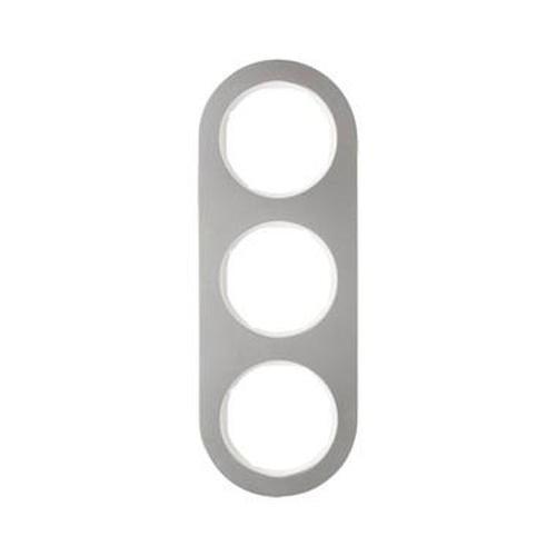 Berker 10132014 Rahmen 3Fach Serie R.Classic Edelstahl/Polarweiß
