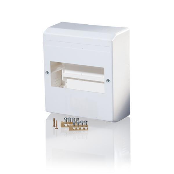 F-Tronic 7260015 AP Automatenkasten 160x140x65mm, 6 Module mit N/PE-Klemmen