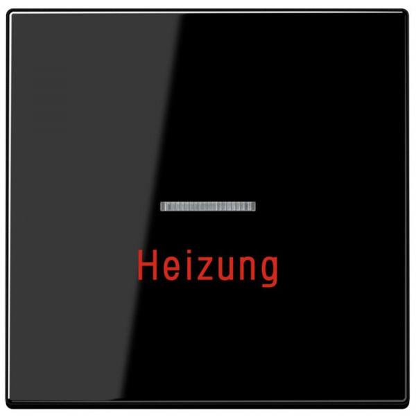 """JUNG LS990HSW Kontroll-Wippe mit Aufschrift """"Heizung"""" Schwarz"""