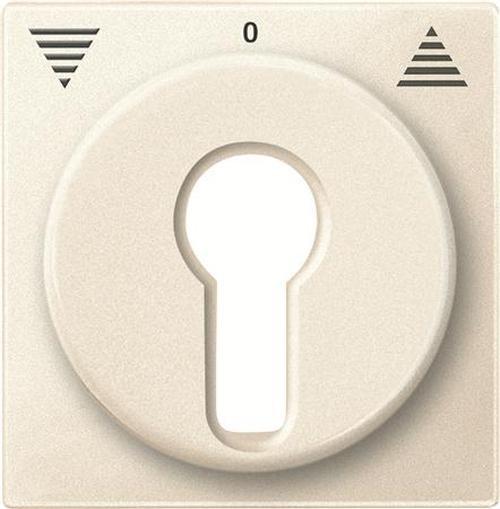 Merten 319344 Zentralplatte Schlüsselschalter Weiß