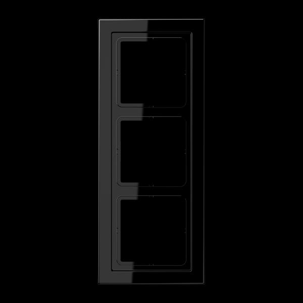 JUNG LSD983SW Rahmen 3-Fach LS-Serie Schwarz