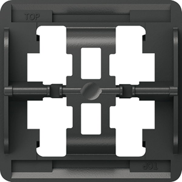 JUNG LS93HP Halteplatte für 3-Fach Wippe Schwarz