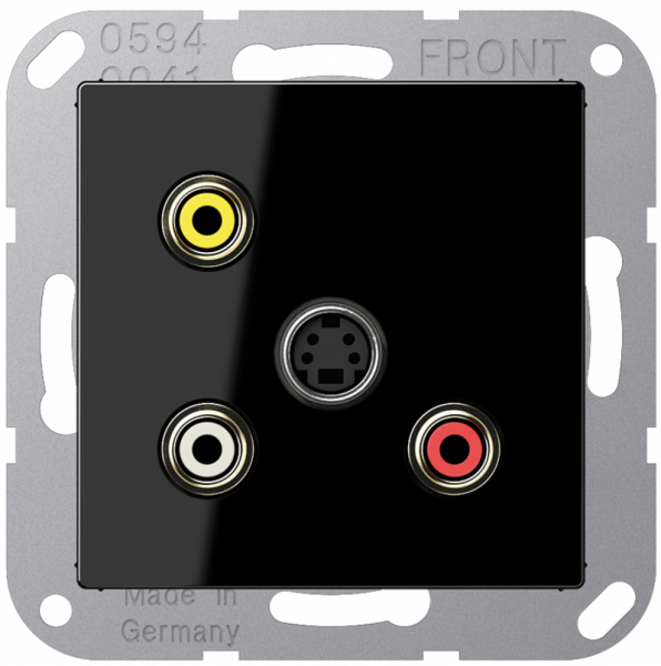 JUNG MAA1051SW Cinch Audio-Composite Video-S-Video Schwarz