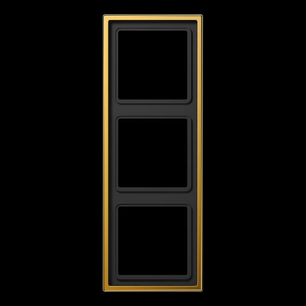 JUNG LS983GGO Rahmen 3-Fach LS-Serie Vergoldet