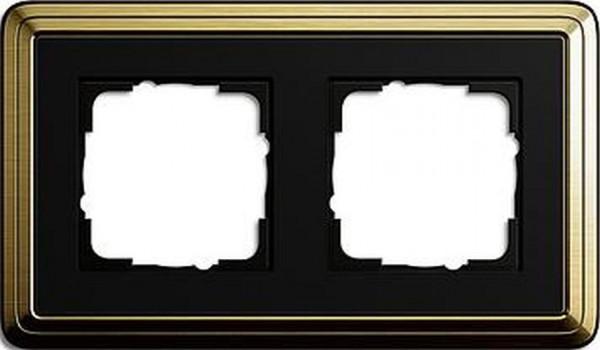 GIRA 0212622 Rahmen 2-Fach ClassicX Bronze-Schwarz