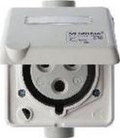 Berker 578601 CEE Steckdose 3-polig Up 32 A mit Klappdeckel Verbindungssysteme Polarweiß