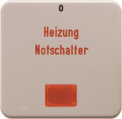 Berker 1569 Wippe 'Heizung' mit roter Linse wg Up IP44 Weiß, Glänzend