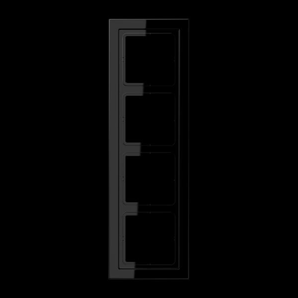 JUNG LSD984SW Rahmen 4-Fach LS-Serie Schwarz