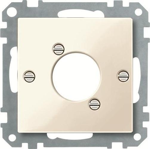 Merten 468044 Zentralplatte für Audio-Steckverbinder XLR Weiß-Glänzend