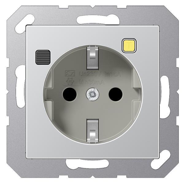 JUNG A5520.30AL Fi-SCHUKO Steckdosen-Einsatz Aluminium