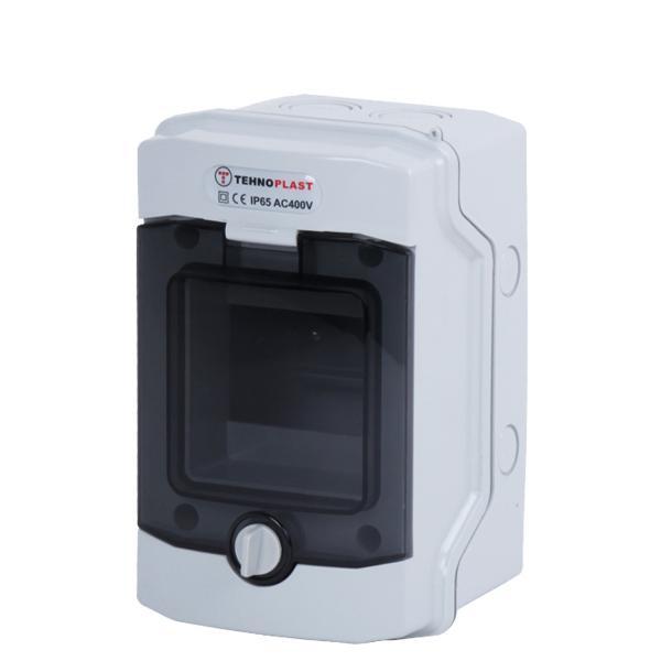 Tehnoplast N4D Aufputzverteiler IP65 1-Reihig 4PLE
