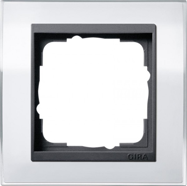 GIRA 0211728 Rahmen 1-Fach Event-Klar Weiß/ Anthrazit
