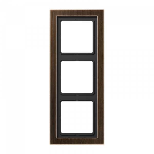 JUNG MED2983AT Rahmen 3-Fach LS-Serie Messing-Antik