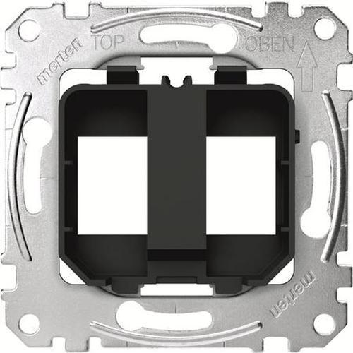 Merten MEG4566-0003 Tragplatten Steckverbinder Modular Jack Schwarz/Gelb
