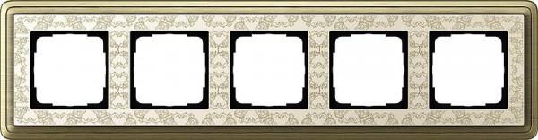 GIRA 0215663 Rahmen 5-Fach ClassicX Art Bronze-Cremeweiß