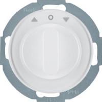 Berker 38122089 Jalousie-Drehschalter mit Z.-Stk. und Drehknopf R.Classic Polarweiß, Glänzend
