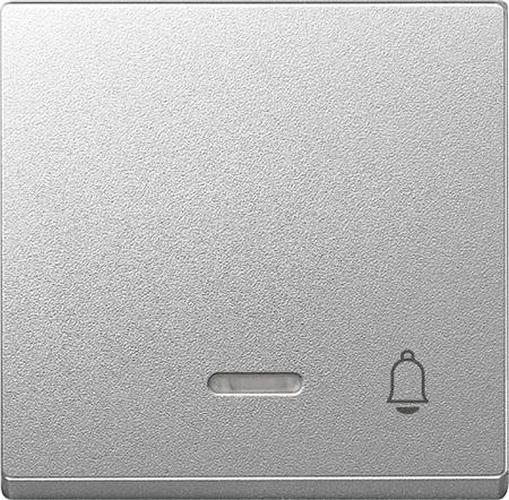 "Merten 430860 Kontroll-Wippe mit Symbol ""Klingel"" Aluminium"