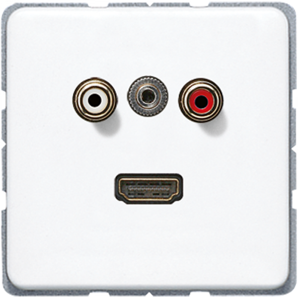 JUNG MACD1082WW Cinch Audio-Miniklinke 3,5 mm-HDMI Alpinweiß