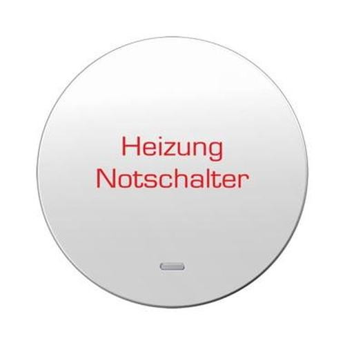 Berker 16212049 Wippe 'Heizung' mit klarer Linse R.1/R.3 Polarweiß, Glänzend
