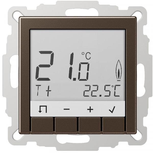 JUNG TRDA231MO Raumtemperaturregler Standard mit Display Mokka
