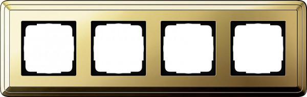 GIRA 0214631 Rahmen 4-Fach ClassicX Messing