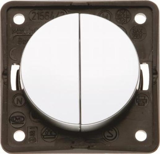 Berker 936552568 Serienschalter, gemeinsame Eingangsklemme, Integro Flow/Pure, Chrom M., Lackiert