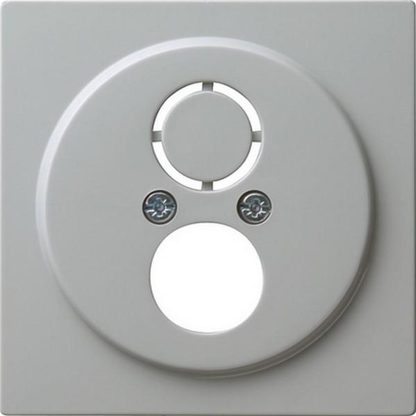 GIRA 027742 Abdeckung für Kommunikationstechnik mit Adapterset Grau