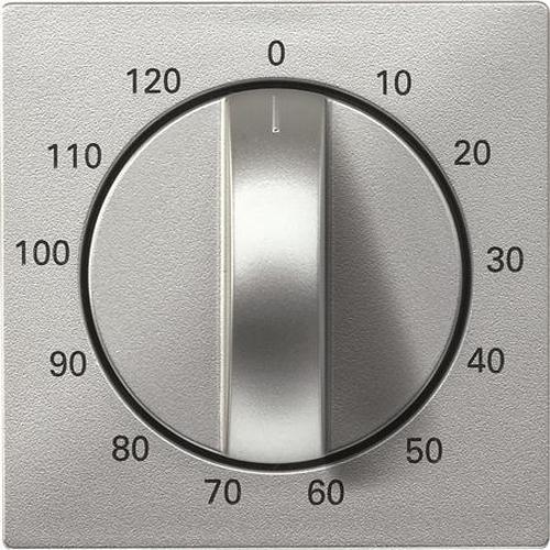 """Merten 539260 Abdeckung Zeitschaltuhr """"120 Min"""" Aluminium"""